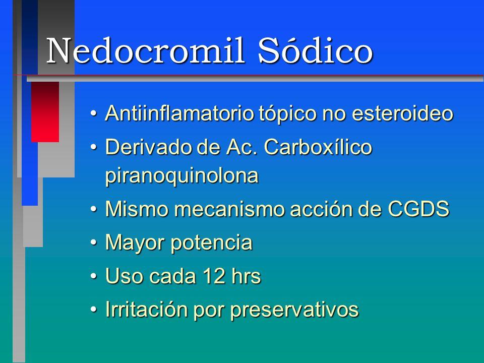 Nedocromil Sódico Antiinflamatorio tópico no esteroideo