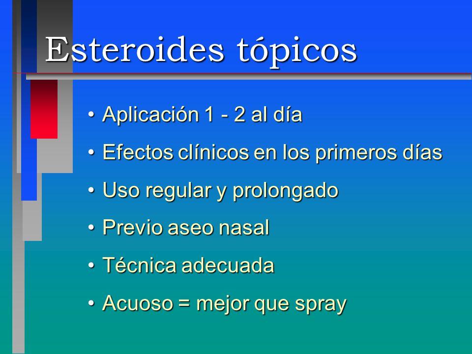 Esteroides tópicos Aplicación 1 - 2 al día