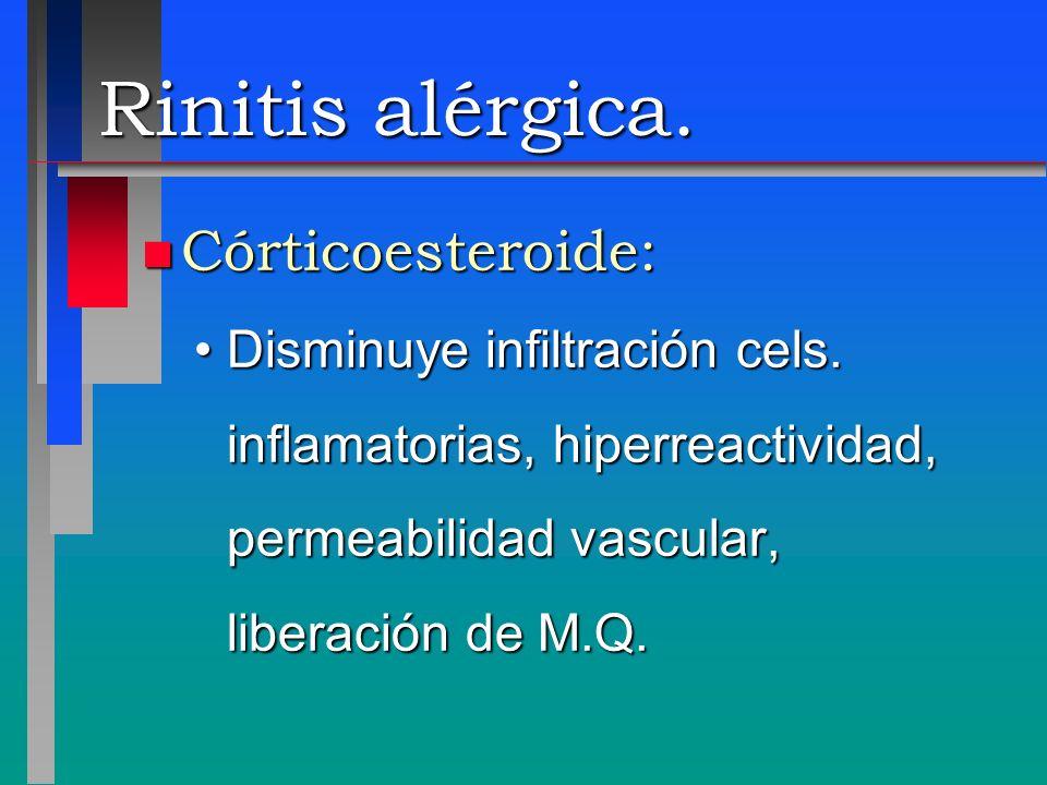 Rinitis alérgica. Córticoesteroide: