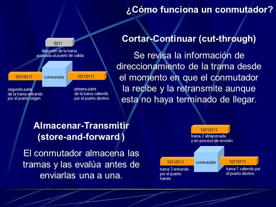 ¿Cómo funciona un conmutador