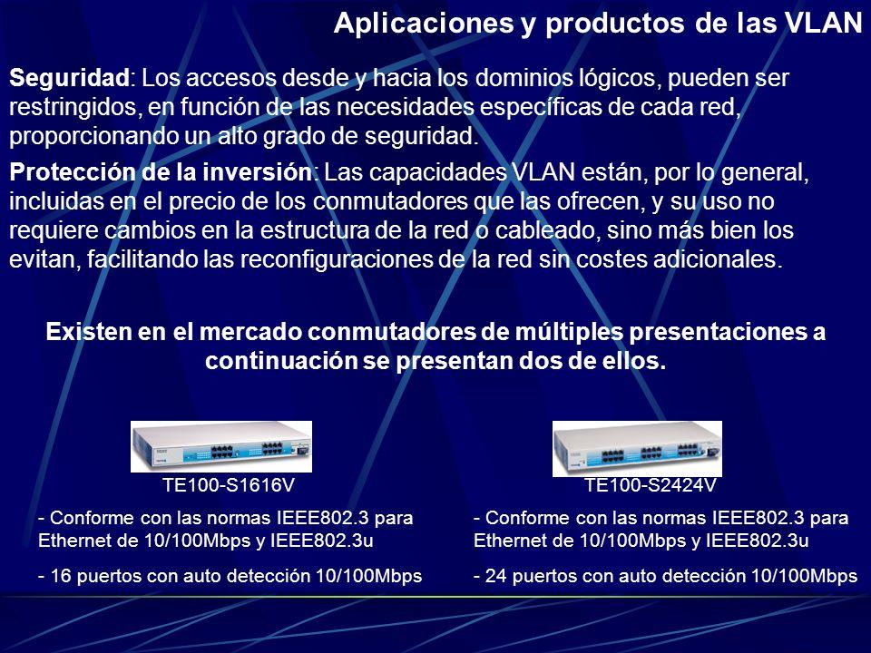 Aplicaciones y productos de las VLAN