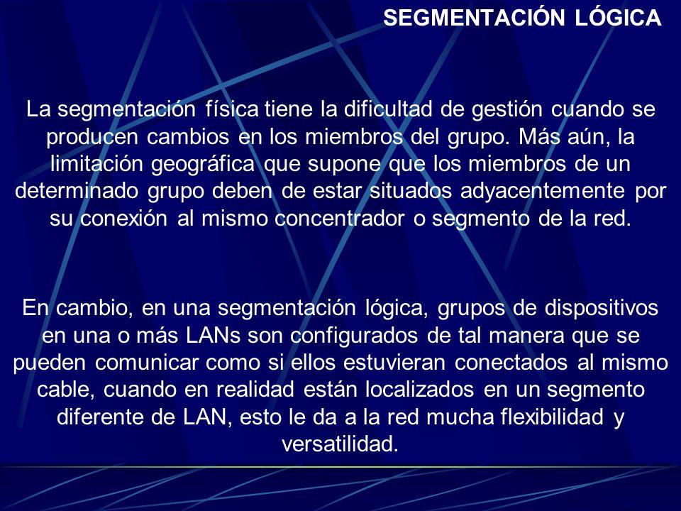 SEGMENTACIÓN LÓGICA