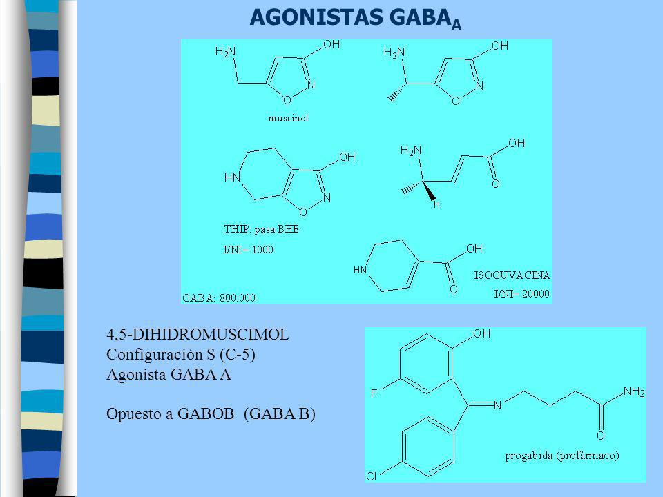 AGONISTAS GABAA 4,5-DIHIDROMUSCIMOL Configuración S (C-5)