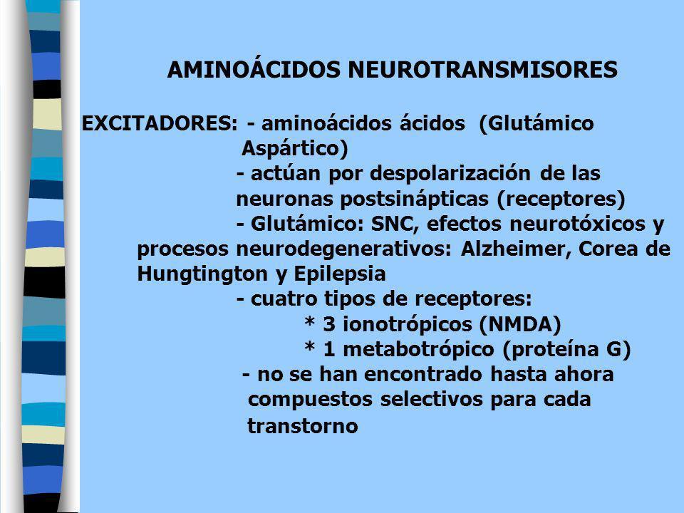 AMINOÁCIDOS NEUROTRANSMISORES