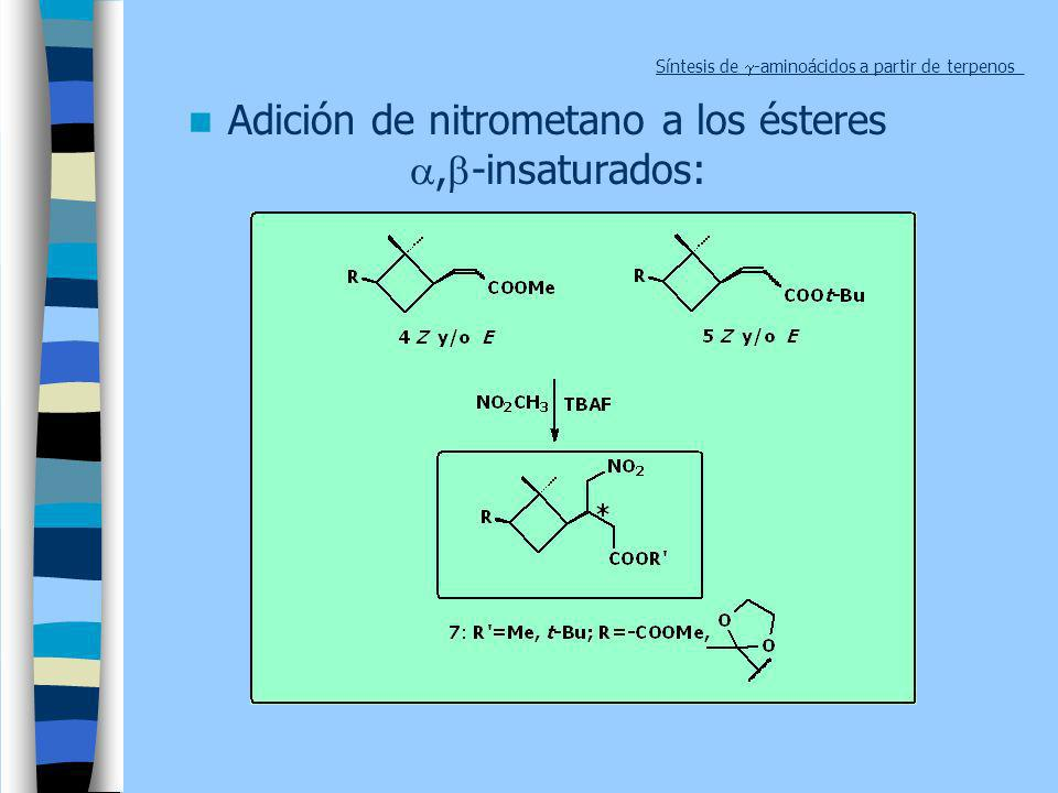 Síntesis de g-aminoácidos a partir de terpenos_