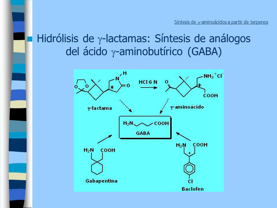 Síntesis de g-aminoácidos a partir de terpenos