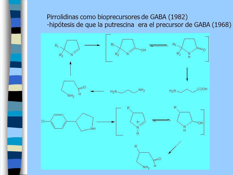 Pirrolidinas como bioprecursores de GABA (1982)