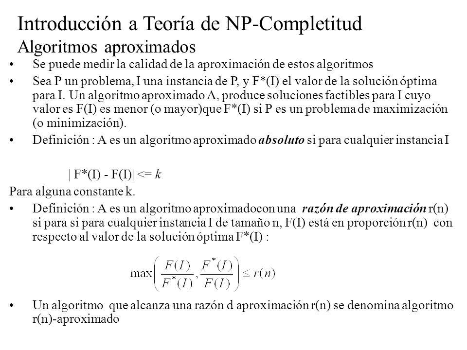 Introducción a Teoría de NP-Completitud