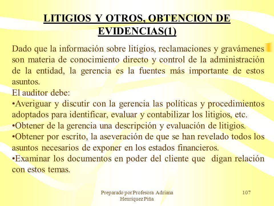 LITIGIOS Y OTROS, OBTENCION DE EVIDENCIAS(1)