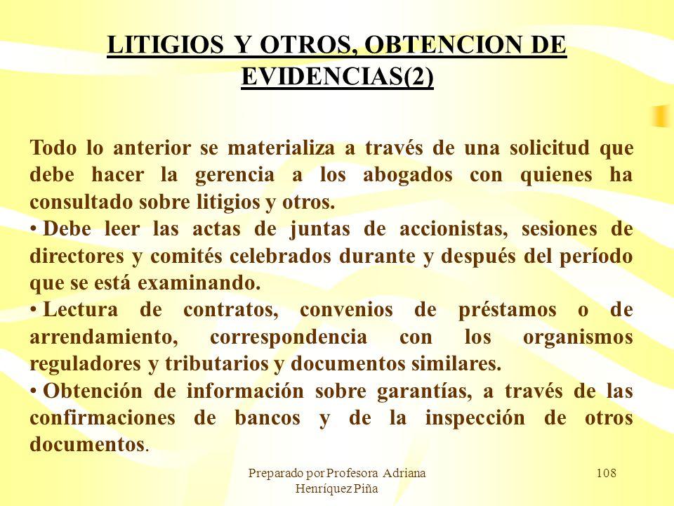 LITIGIOS Y OTROS, OBTENCION DE EVIDENCIAS(2)