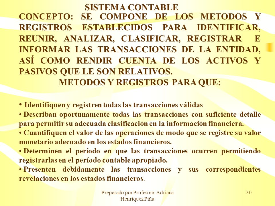 METODOS Y REGISTROS PARA QUE: