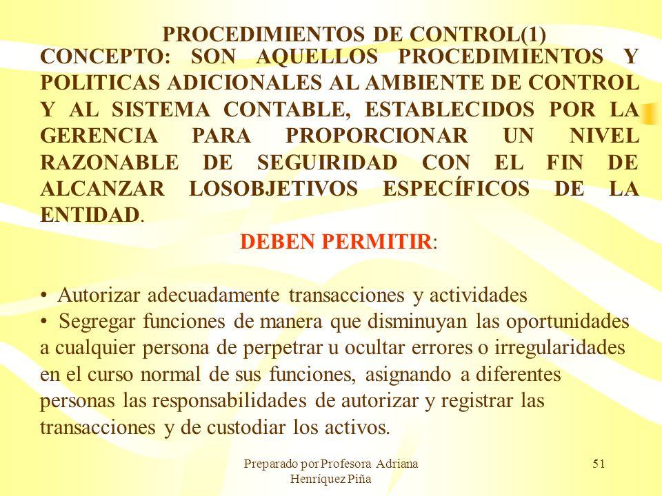 PROCEDIMIENTOS DE CONTROL(1)
