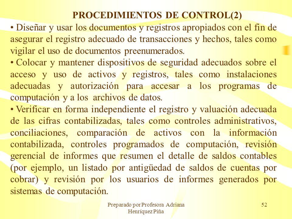 PROCEDIMIENTOS DE CONTROL(2)