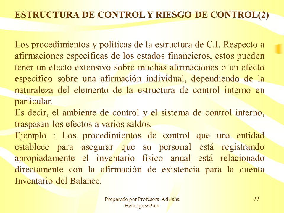 ESTRUCTURA DE CONTROL Y RIESGO DE CONTROL(2)