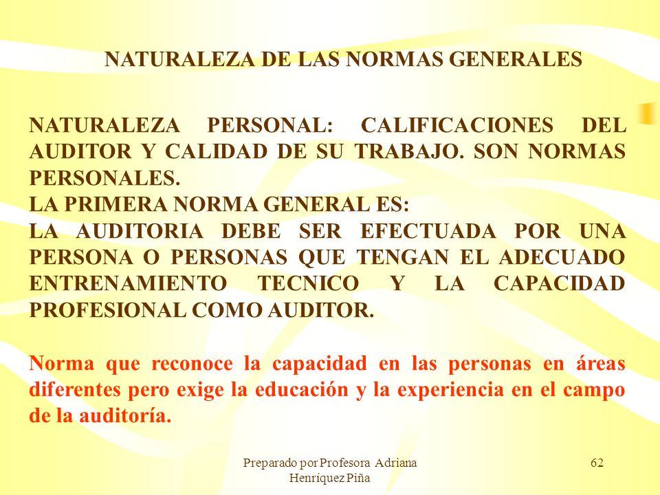 NATURALEZA DE LAS NORMAS GENERALES