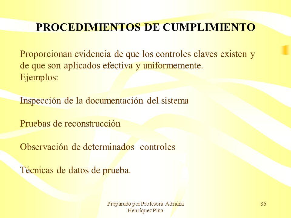 PROCEDIMIENTOS DE CUMPLIMIENTO