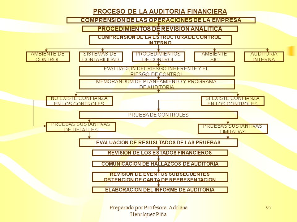 PROCESO DE LA AUDITORIA FINANCIERA