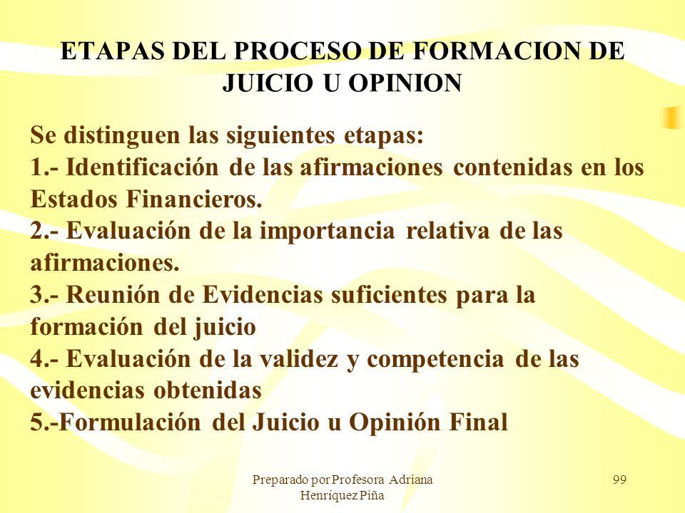 ETAPAS DEL PROCESO DE FORMACION DE JUICIO U OPINION
