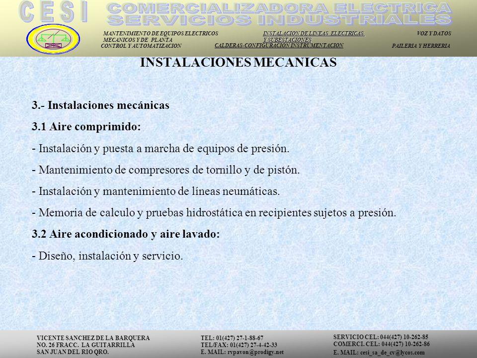 INSTALACIONES MECANICAS