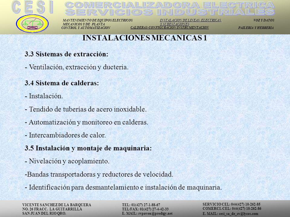 INSTALACIONES MECANICAS 1
