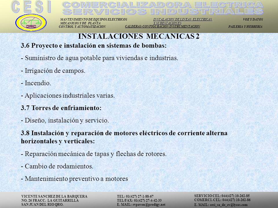 INSTALACIONES MECANICAS 2