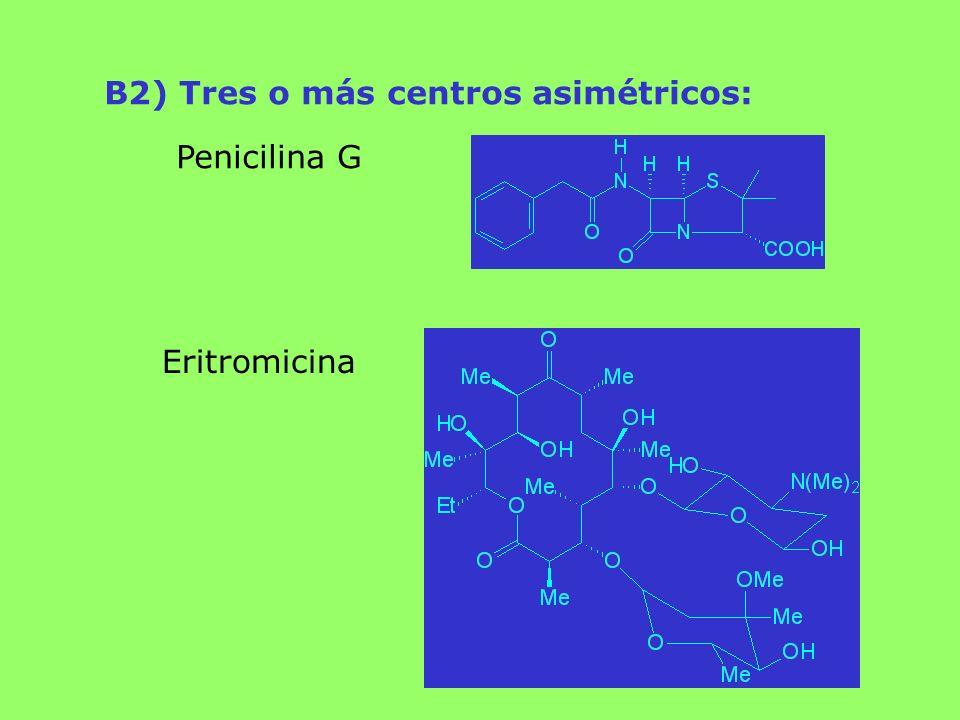 B2) Tres o más centros asimétricos: