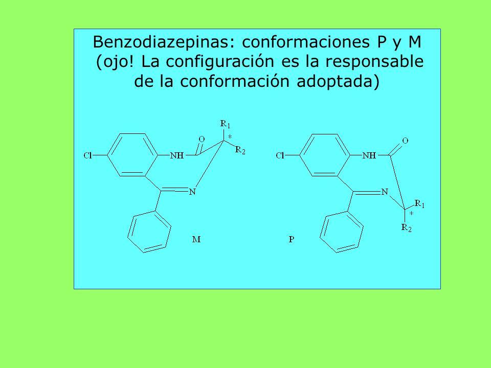 Benzodiazepinas: conformaciones P y M