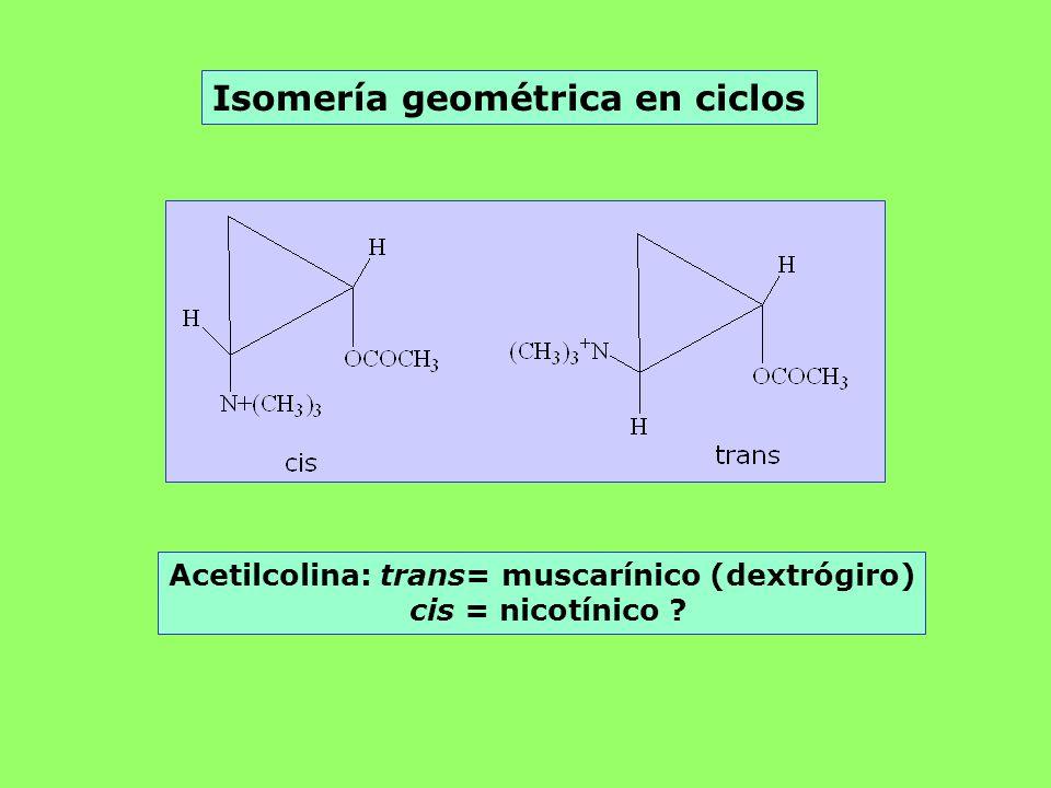 Isomería geométrica en ciclos