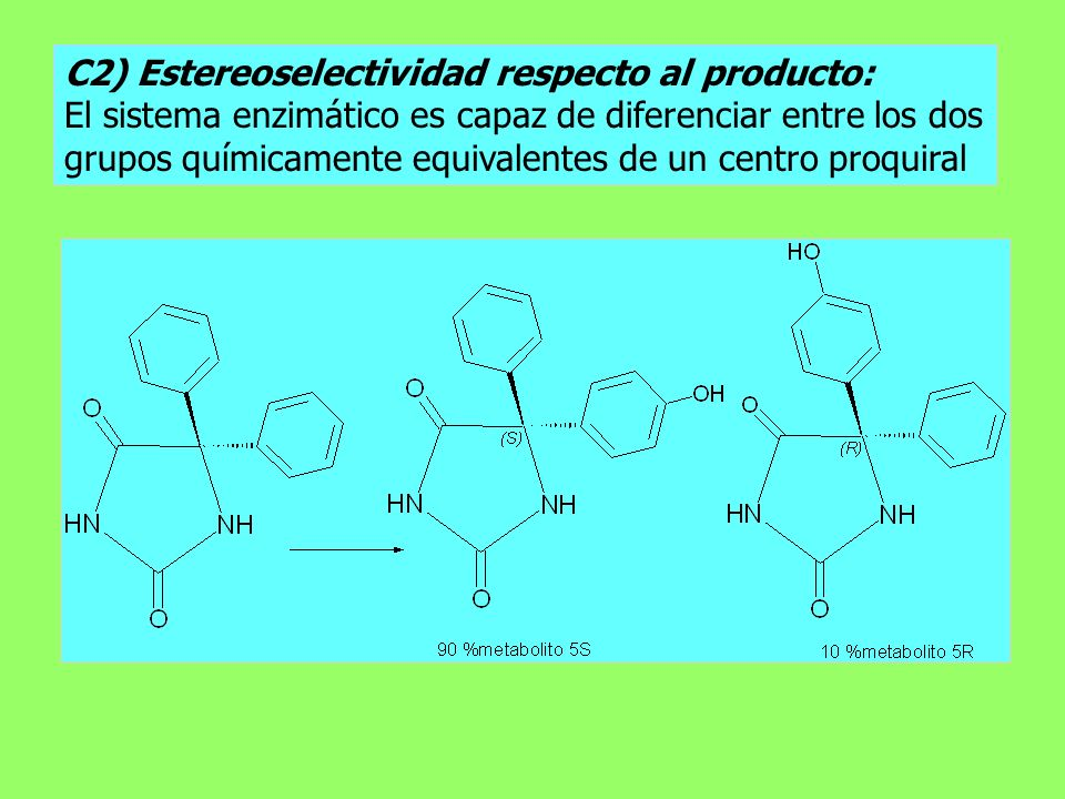 C2) Estereoselectividad respecto al producto: