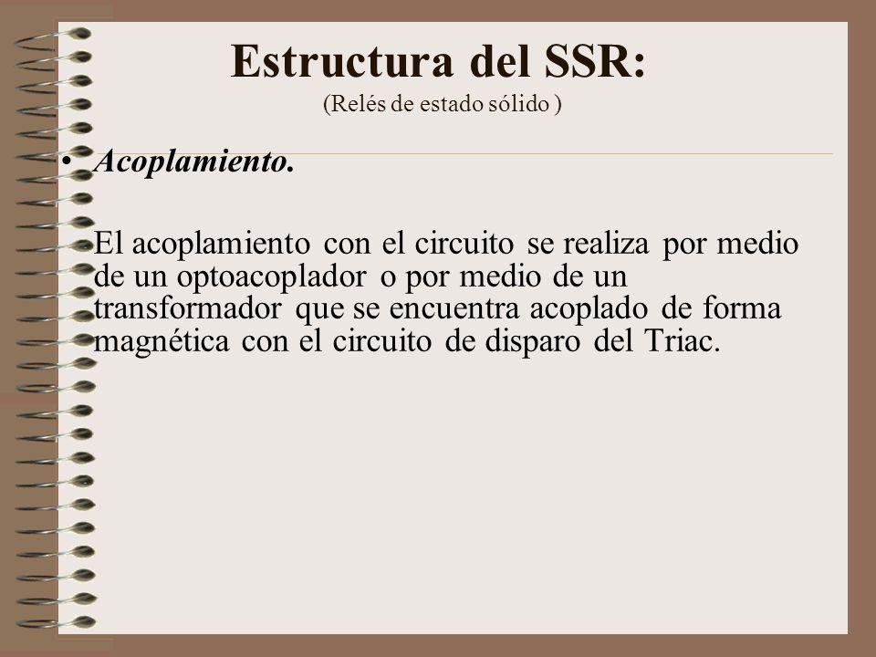 Estructura del SSR: (Relés de estado sólido )