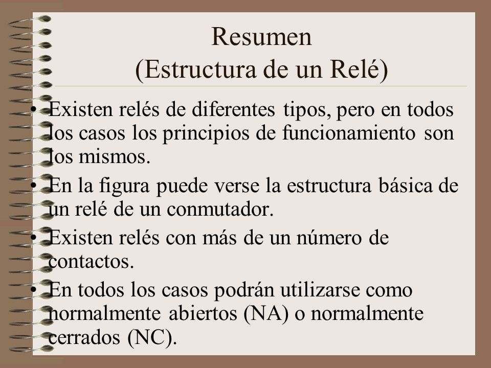 Resumen (Estructura de un Relé)