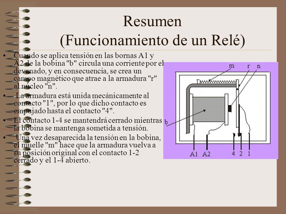 Resumen (Funcionamiento de un Relé)