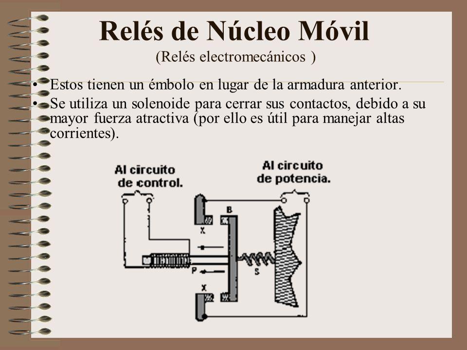 Relés de Núcleo Móvil (Relés electromecánicos )