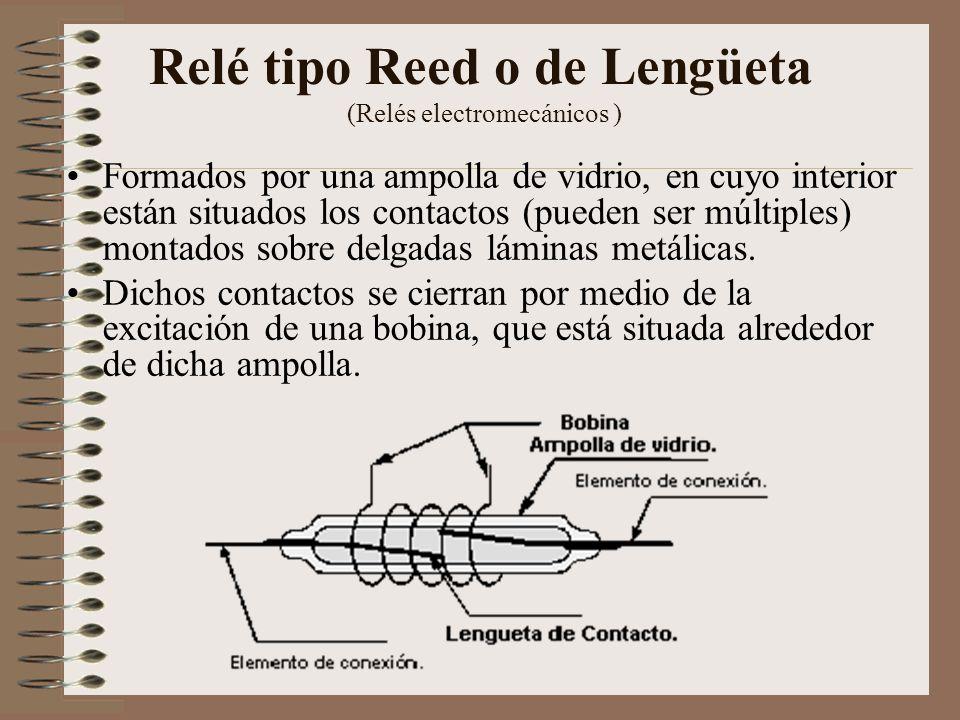 Relé tipo Reed o de Lengüeta (Relés electromecánicos )