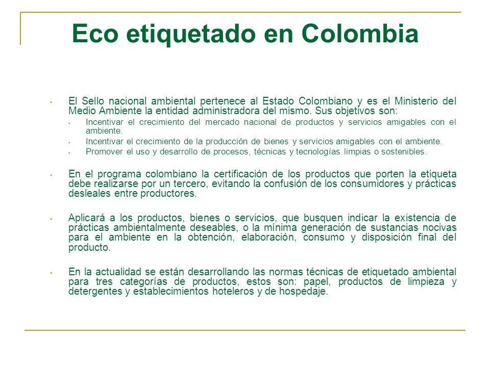 Eco etiquetado en Colombia