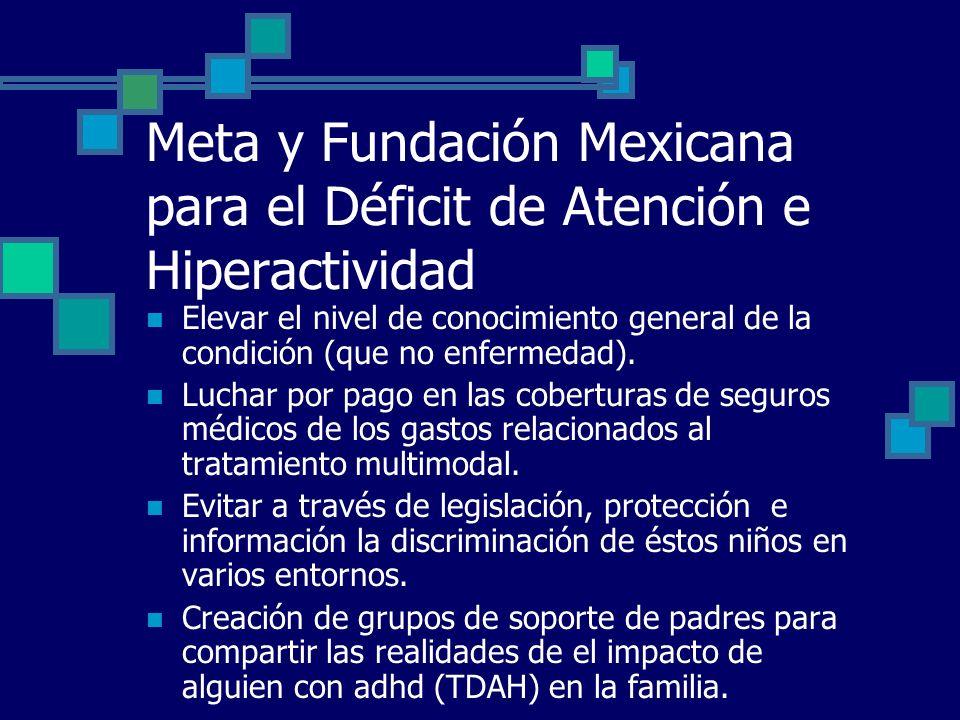 Meta y Fundación Mexicana para el Déficit de Atención e Hiperactividad