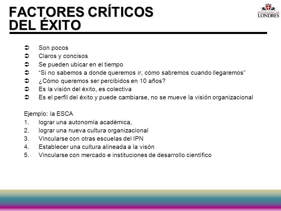 FACTORES CRÍTICOS DEL ÉXITO