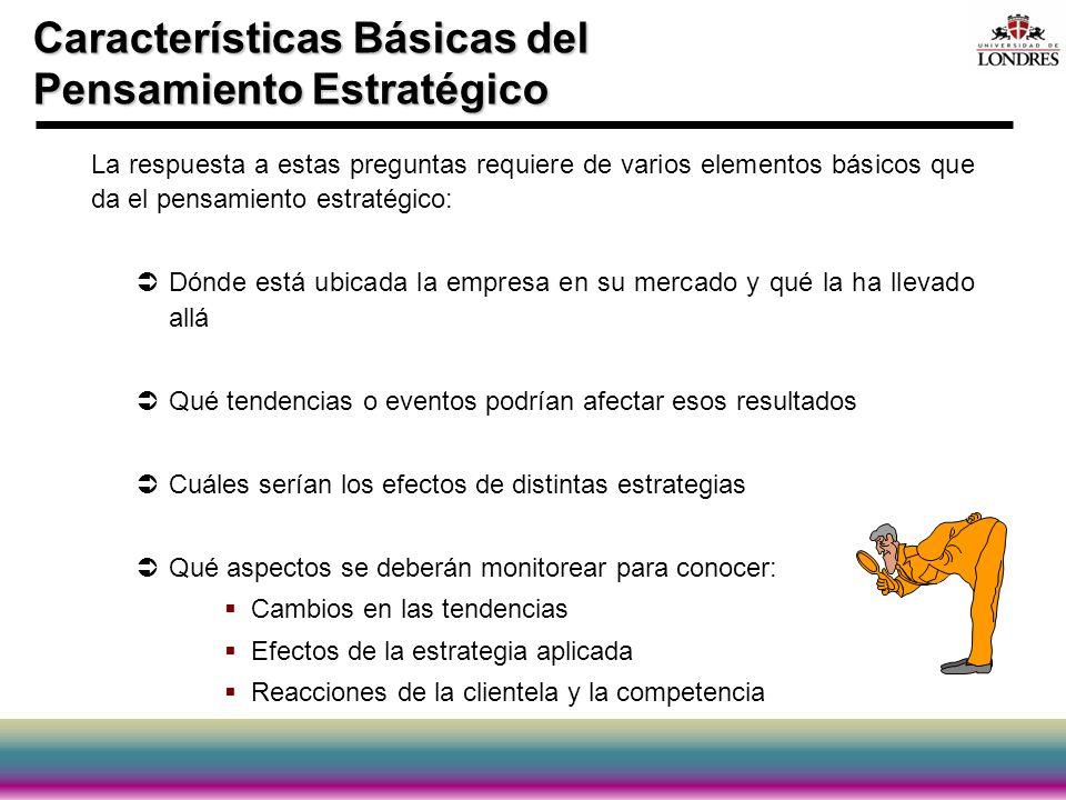 Características Básicas del Pensamiento Estratégico