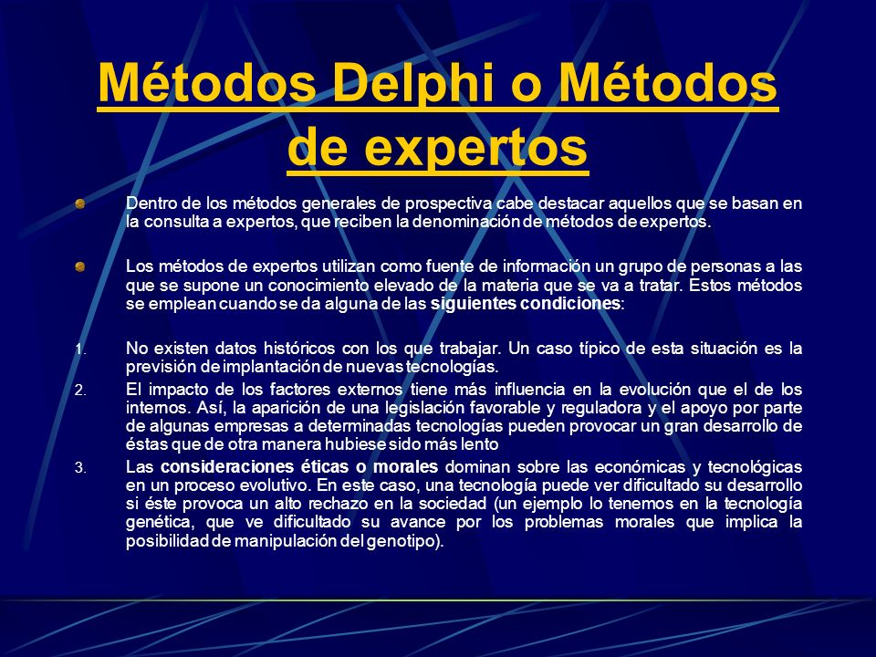 Métodos Delphi o Métodos de expertos