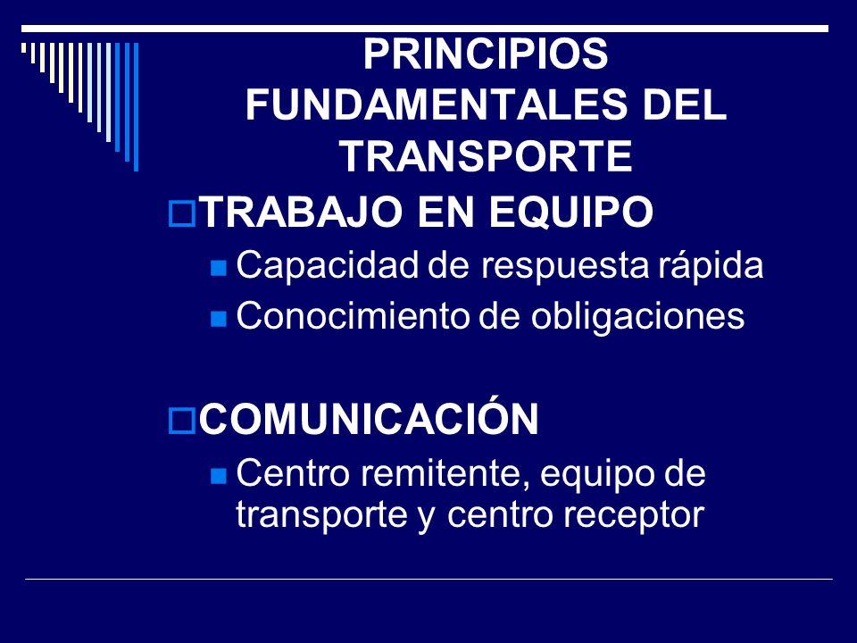 PRINCIPIOS FUNDAMENTALES DEL TRANSPORTE