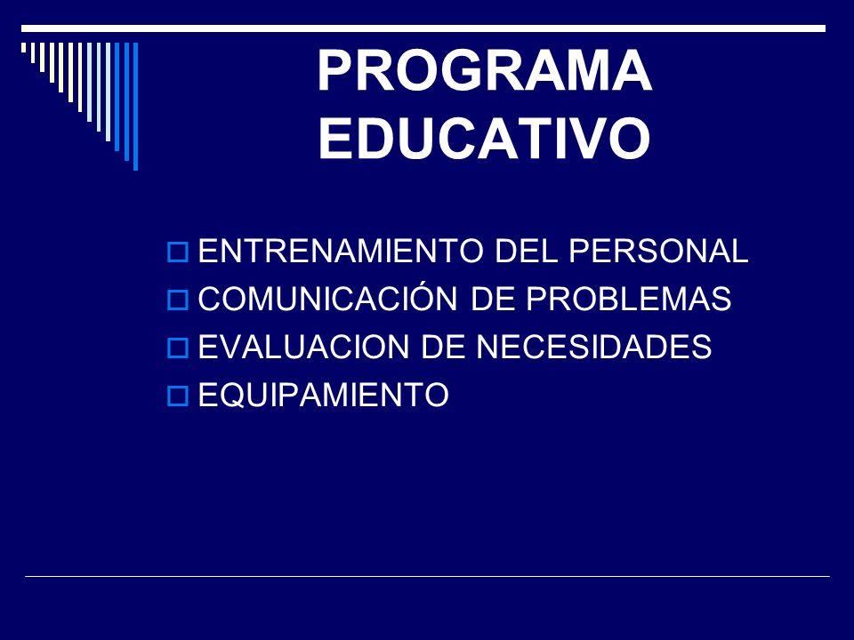 PROGRAMA EDUCATIVO ENTRENAMIENTO DEL PERSONAL