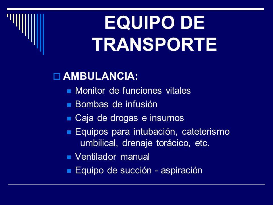 EQUIPO DE TRANSPORTE AMBULANCIA: Monitor de funciones vitales