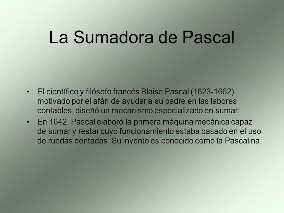 La Sumadora de Pascal