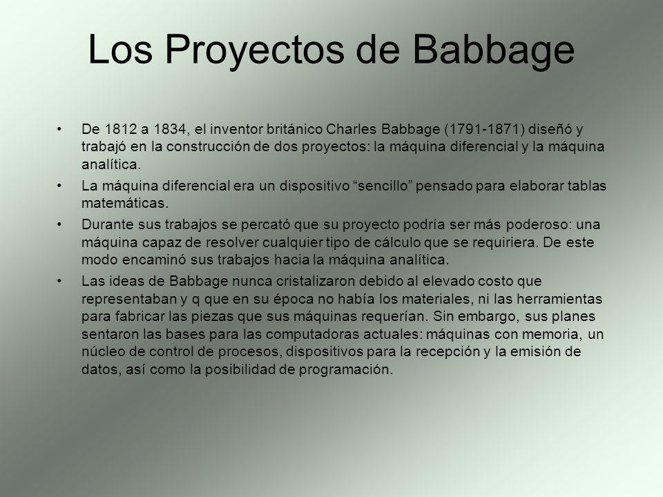 Los Proyectos de Babbage