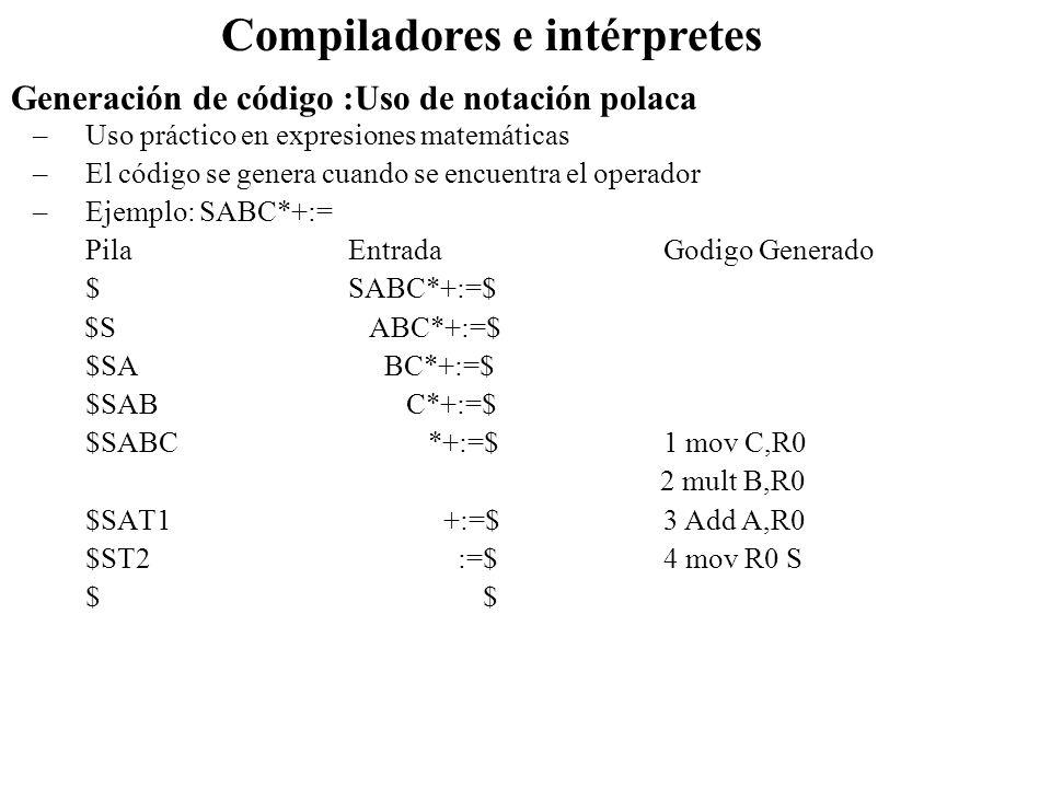 Compiladores e intérpretes