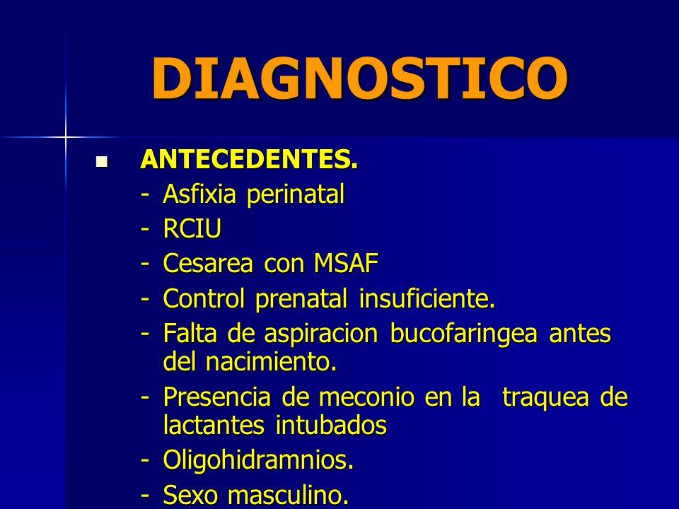 DIAGNOSTICO ANTECEDENTES. - Asfixia perinatal - RCIU