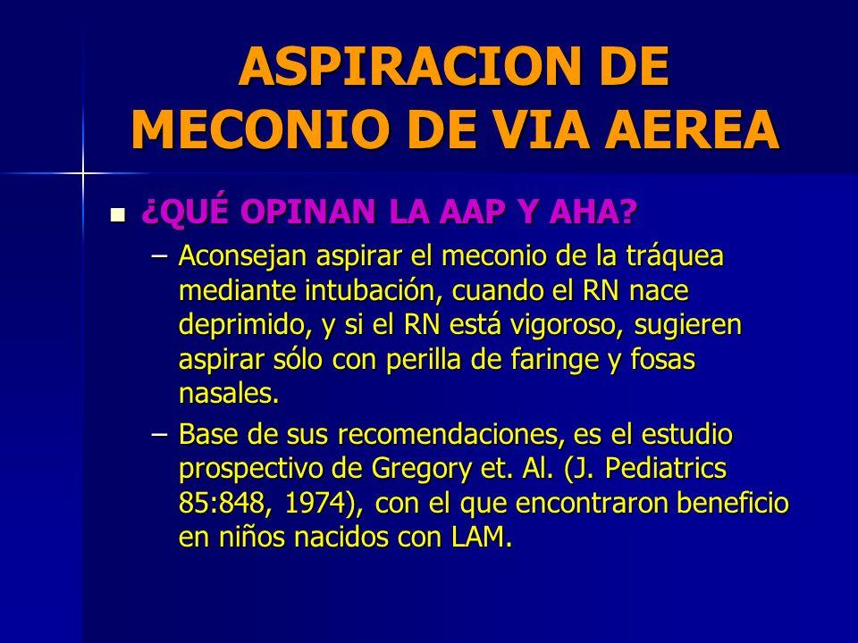 ASPIRACION DE MECONIO DE VIA AEREA