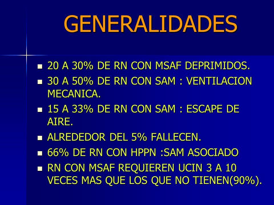 GENERALIDADES 20 A 30% DE RN CON MSAF DEPRIMIDOS.