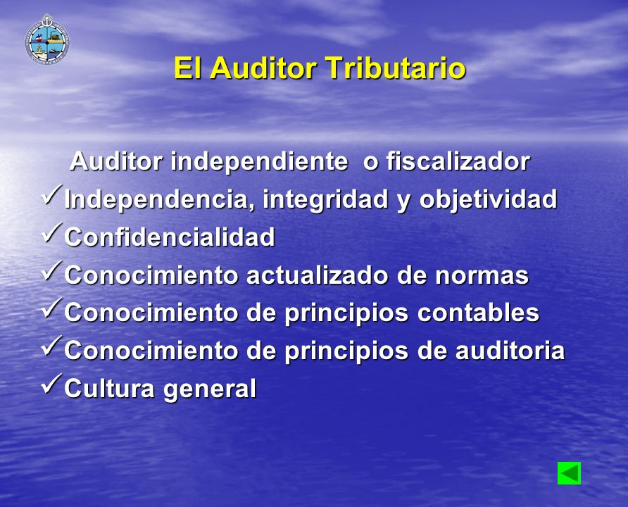 El Auditor Tributario Auditor independiente o fiscalizador