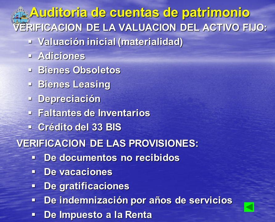 Auditoria de cuentas de patrimonio